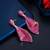 Zircon geometry earrings