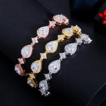 Fashion classic drop-shaped bracelet, zircon geometric bracelet