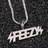 Zircon alphabet necklace