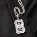 European and American hip hop zircon pendant necklace