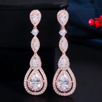 Wild long drop earrings, zircon fashion earrings