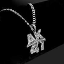 Hip-hop letter necklace