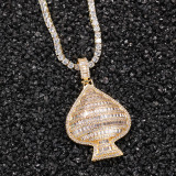 Hip Hop Fashion Peach Heart Pendant Necklace