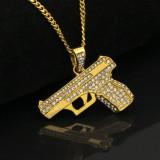 Hip-hop submachine gun personality necklace