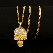 Hip Hop Retro Titanium Steel Skull Necklace
