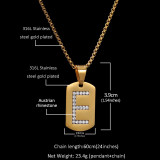 European and American personality zircon letter necklace