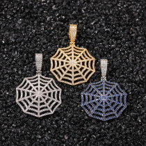 Zircon Spider Web Necklace