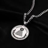 Titanium steel hip hop necklace
