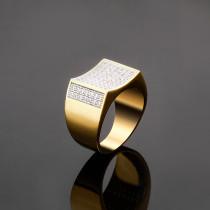 Fashion creative men's hip hop ring