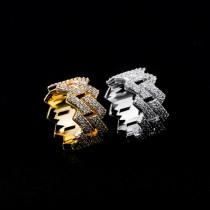 European and American men's diamond hip hop zircon ring