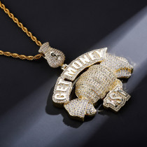 Hip-hop personality zircon necklace