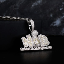 Hip-hop personality zircon pendant necklace