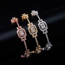 French 8 inch zircon bracelet
