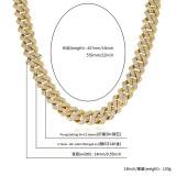 Rhombus zircon hip hop hipster necklace