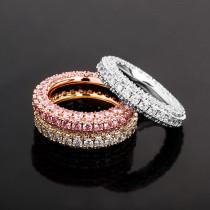 Zircon real gold plating ring