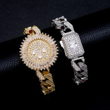 Miami zircon hip hop personality bracelet