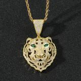 Tiger head domineering pendant necklace