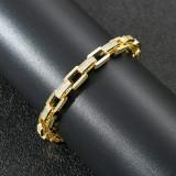 Hip hop zircon trendy bracelet