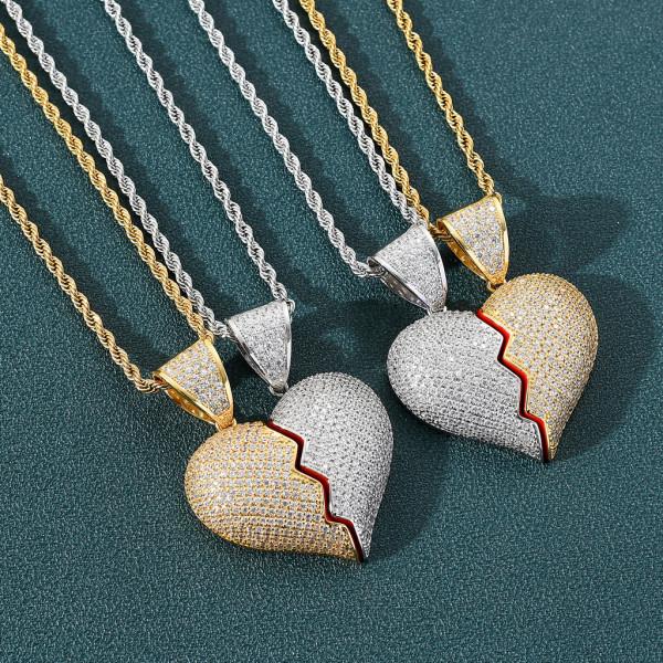 Hip Hop Couple Pendant Necklace