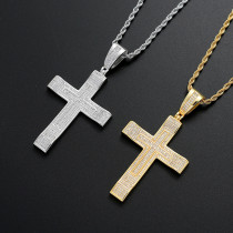 Cross hip hop pendant necklace