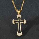 New European and American Cross Hip Hop Pendant Necklace