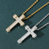 Zircon retro hip hop men's pendant necklace