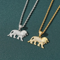 Zircon Lion Hip Hop Necklace