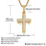 Drop cross necklace