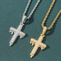 Drop cross necklace