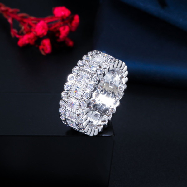 Fashion all-match zircon ladies ring
