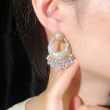 Electroplating hypoallergenic silver needle earrings