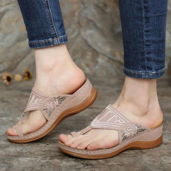 🔥Buy 3 get 15% off &FREE SHIPPING🔥EMBROIDERY COMFY WEDGES SANDALS