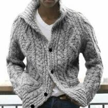 MEN'S HAND KNIT LONG CARDIGAN
