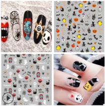 Halloween strap adhesive pumpkin skull nail stickers