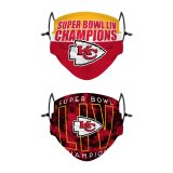 🔥50% OFF NOW!🔥 Kansas City Chiefs NFL Super Bowl LIV Champions Adjustable 2 Pack Face Cover