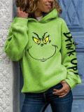 Grinch Face Drink Up Christmas Hoodies