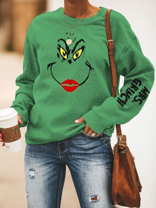 Women's MRS.GRINCH Printed Christmas Sweatshirts