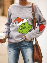 Women's Christmas Grinch Printed  Sweatshirt