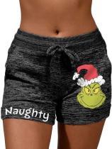 Naughty Grinch Christmas Casual Shorts