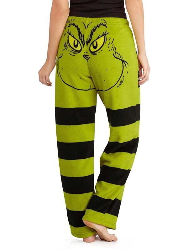 Woman's Christmas Grinch Striped Pajama Pants