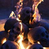 🔥Buy 10 Free 8 Halloween Flash Sale-Terrifying Human Skull Fire Pit