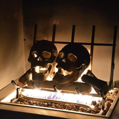 🔥Buy 10 Free 8 Halloween Flash Sale-Terrifying Human Skull Fire Pit