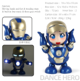 Funny Cute Electronic Toys LED Dance Hero For Kids Christmas Gift
