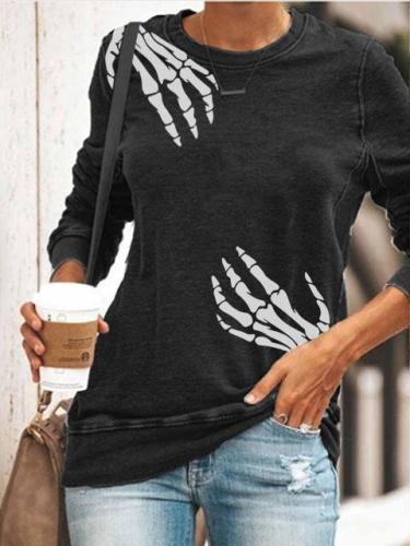 Women's Halloween Print Sweatshirt