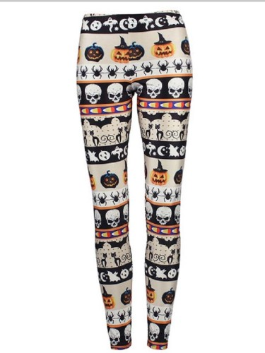 Women's Halloween Digital Printed Tight Yogapants