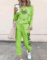 Women The Grinch Drink Up Printed Long Sleeve Suits