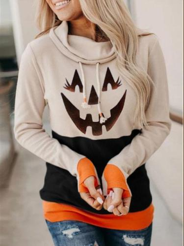 Women's Halloween print hoodie