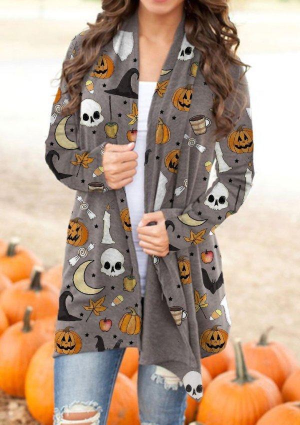 Women's Halloween Print Cardigan
