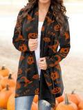 Women's Halloween Knitted Cardigan Top