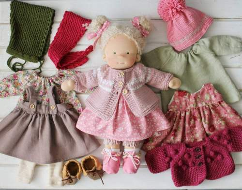 Waldorfdoll  Waldorfinspired  Natural fiber doll Waldorf doll clothes Soft doll Cuddle doll(PRE ORDER.NEXT SHIPPING DAY 15 DAYS)
